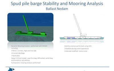 Spud Pile Mooring analysis