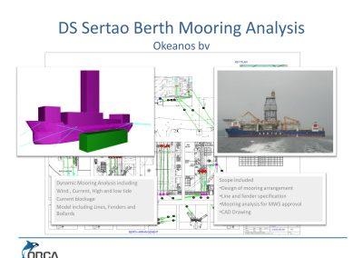 Drill Ship Sertao Berth Mooring analysis