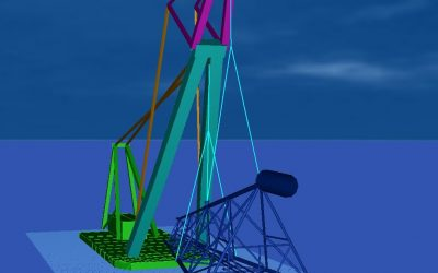 Ophir Platform Lift and Mooring Analysis with Asian Hercules II