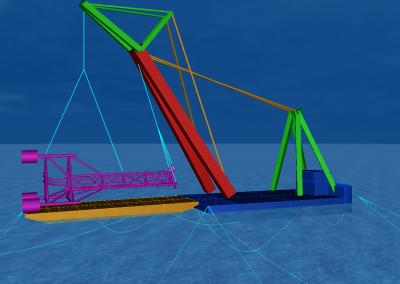 East Cendor Platform Lift and Mooring Analysis with Asian Hercules III